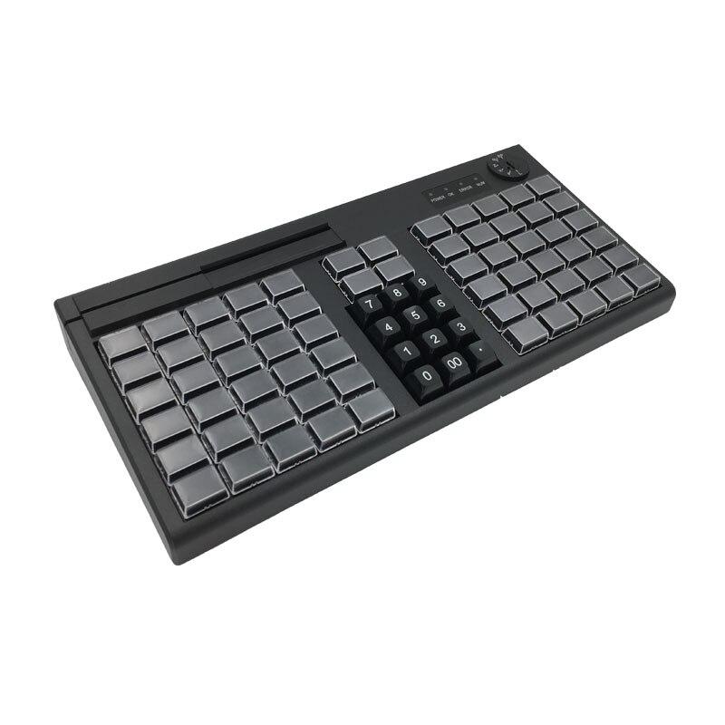KB76 76 teclas POS Teclado programable con MSR USB opcional/PS2 rico Interfaces para la elección