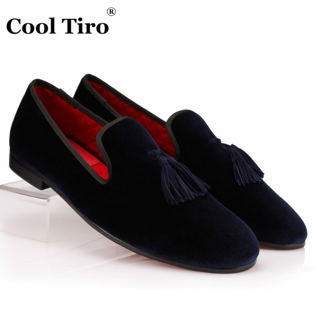 Chaussures Tiro De Hommes Gland Velours Main Mocassins Cool Fait wZRqITR