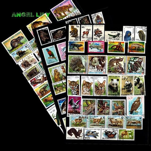 200 ADET HIÇBIR Repetiton Konu Vahşi Hayvan Kullanılmayan Posta Pulları, posta pulları Sonrası Işareti Koleksiyonu 200