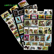 200 PCS NO Repetiton  Topic Wild Animal Unused Postage Stamps , post stamps  With  Post Mark For Collection 200