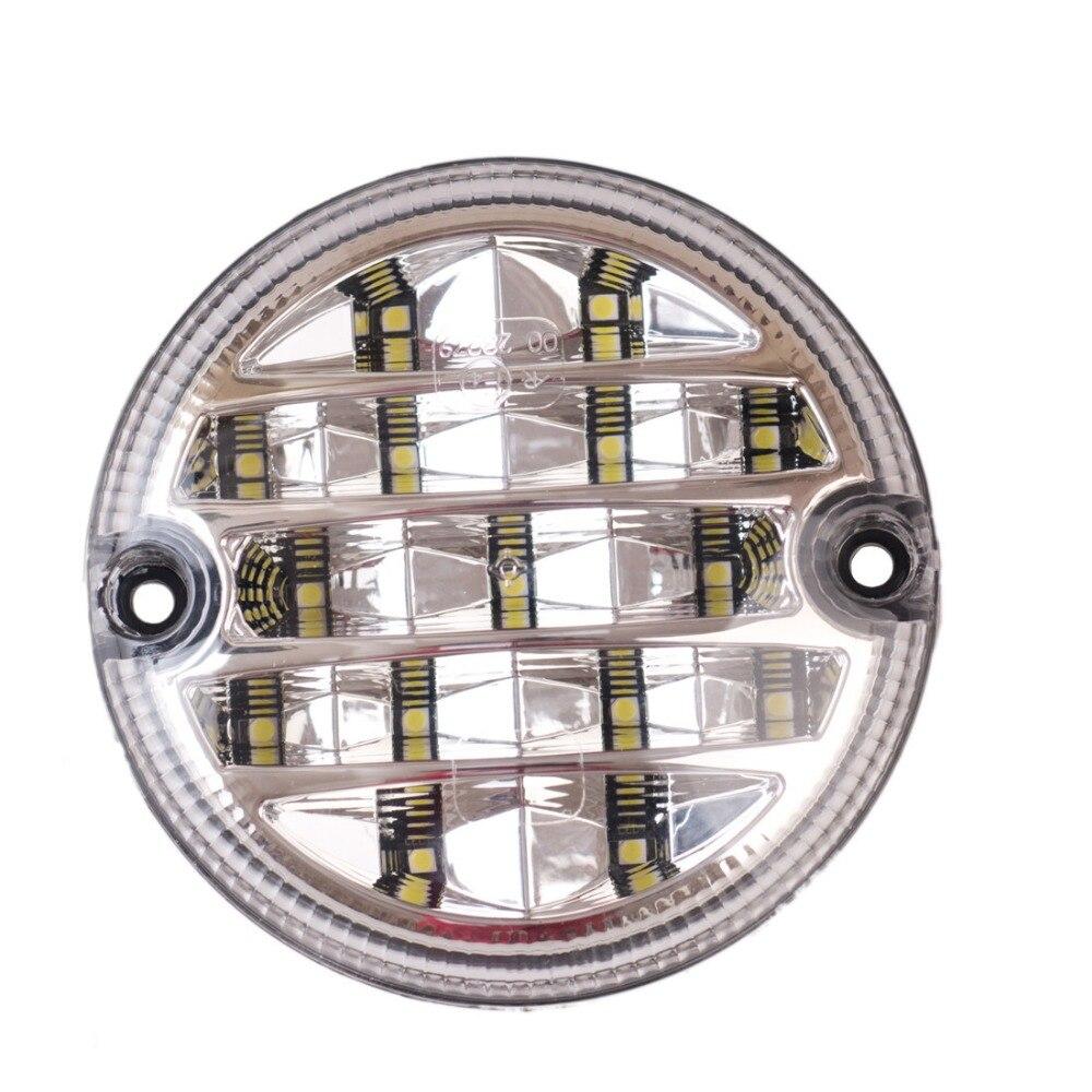 12v 24v 95mm caminhao redondo led luzes traseiras lampada de reboque automoveis reverso traseiro lampada luz