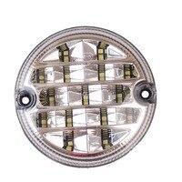 2Pcs 12V/24V 95mm Round Led Truck Rear Lights Trailer Lamp Automobiles Rear Reverse Light Lamp Reversing Light Lamps Universal