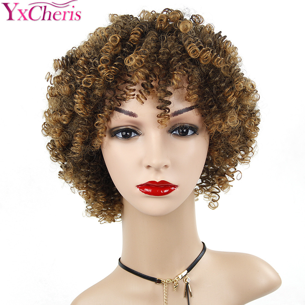 US $10.93 19% OFF|Synthetic Short Curly Wigs