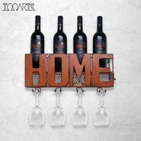 Tooarts Wall Mounted Wine Rack Cork Storage Container Glass Holder Bottle Keeper Cork Wine Storage Rack Home Kitchen Decor