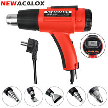 NEWACALOX 1500W Digitale Heat Gun 220V EU Elektrische Thermoregulator LCD Display Heteluchtpistool Krimpfolie Thermische Power tool(China)