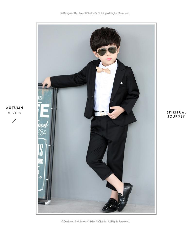 afcfc7d9d 2019 New Autumn Baby Boys Suit Cotton Coat Pants Tie 3 Piece Kids ...
