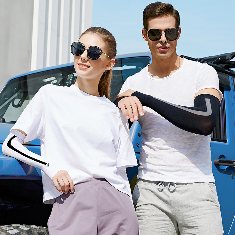 New Hot Sun Protection Arm Cooling Sleeve Warmers Cuffs UV Protection Sleeves Breathable Quick Dry Running Arm Sleeves Men Women