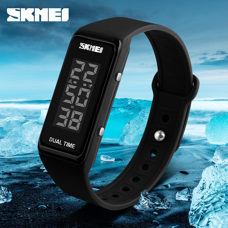 SKMEI Fashion Sports Watches Men Women Waterproof Alarm Watch Chronograph Wristband Digital Wristwatches Relogio Feminino купить в Москве 2019