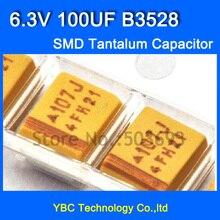 Gratis Verzending 100 stks/partij 3528 SMD Tantaal Condensator 6.3 V 100 UF B3528 10% Tolerantie