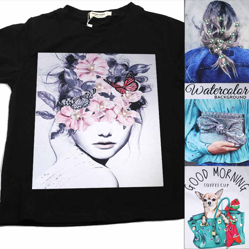شخصية كبيرة المطبوعة التصحيح على الملابس الزخرفية تي شيرت موضة خياطة على بقع كبيرة زين للملابس خياطة ملصق
