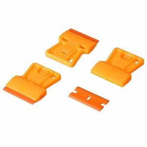 Image 3 - EHDIS nettoyage des vitres, racleur de rasoir + 10 pièces, outils de teinture à lames en plastique pour voiture, autocollant, élimination de la colle, enveloppe en vinyle
