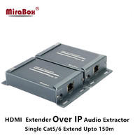 MiraBox HDMI Network Extender Over TCP IP 150m FUll HD 1080P Via UTP STP Cat5/5e/Cat6 By Rj45 HDMI Transmitter and Receiver
