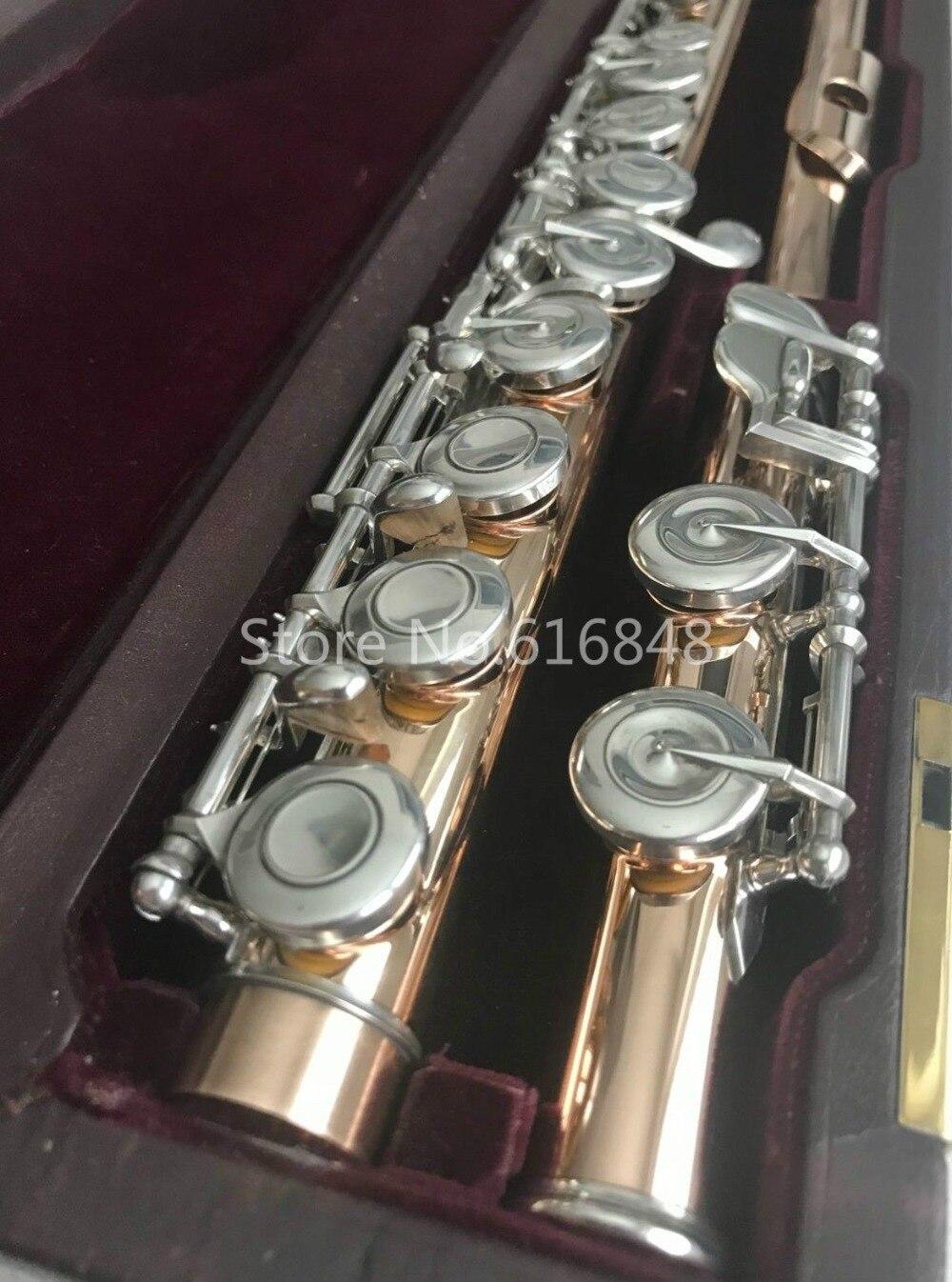 Мурамацу золотой лак флейта закрыты отверстия Разделение E 16 ключи Флейта Высокое качество музыкальный инструмент с корпусом