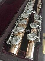 Muramatsu золотой лак флейта закрытые отверстия разделение E 16 ключи высокое качество музыкальный инструмент с футляром