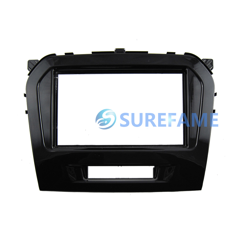Double 2 Din Car Radio Dash Kit for Suzuki Vitara 2015+ Audio Stereo CD Panel Fascia Facia Cover Face Plate Adaptor Trim Bezel