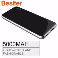 5000 мАч Besiter Мощность банк Портативный Зарядное устройство Мощность Bank 5000 внешний Батарея питания быстрого Зарядное устройство для мобильных телефонов и планшетных ПК
