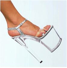 20cm high-heeled shoes transparent crystal sandals 8 inch wedding dress shoes back strap party Exotic Dancer performance shoes 20cm high heeled shoes transparent crystal sandals 8 inch wedding dress shoes back strap party exotic dancer performance shoes