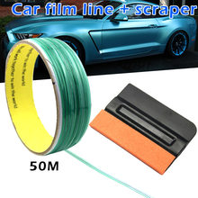 50M Safe Finish Car Line Knifeless Tape with Squeegee for Vinyl Wrapping Film Cutting M8617(China)