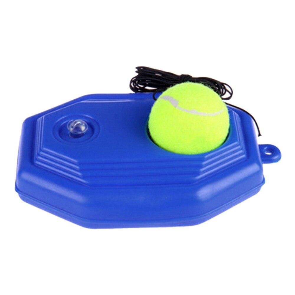 1pc Blue Plastic Racket Ball Trainer Single Tennis Practice Base Elastic Tennis Exercise Training Device Tennis Accesories