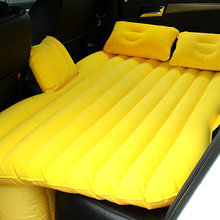 2019Car travel bed camping inflatable sofa multi-function bed back seat rest cushion cushion sleeping pad no pump accessories(China)