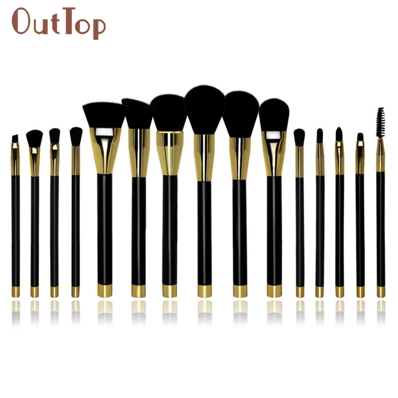 Hot Best Deal  Beautiful Women 15PCS Cosmetic Makeup Brush  Makeup Brush Eyeshadow Brush F14X15