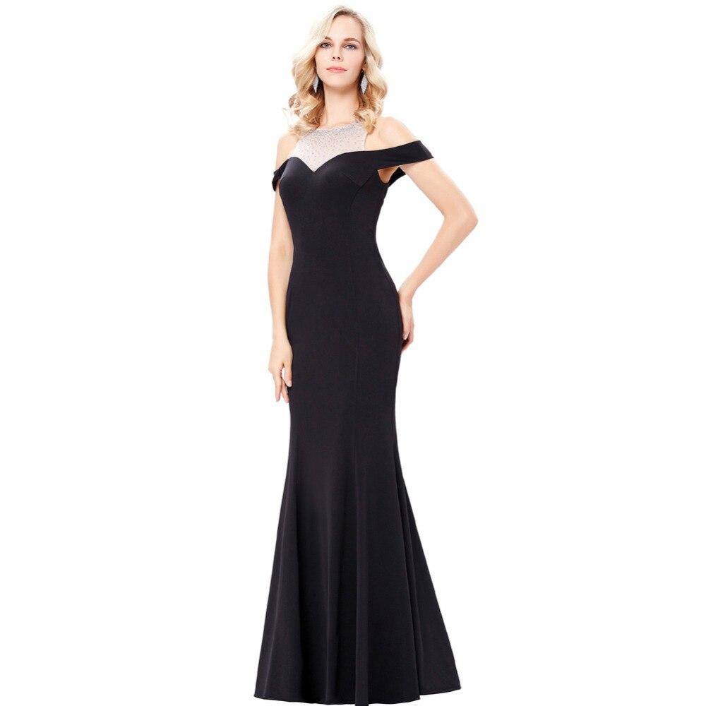 Kate Kasin Drop Shoulder Sequin Evening Dresses 2017 Sheer Prom ...