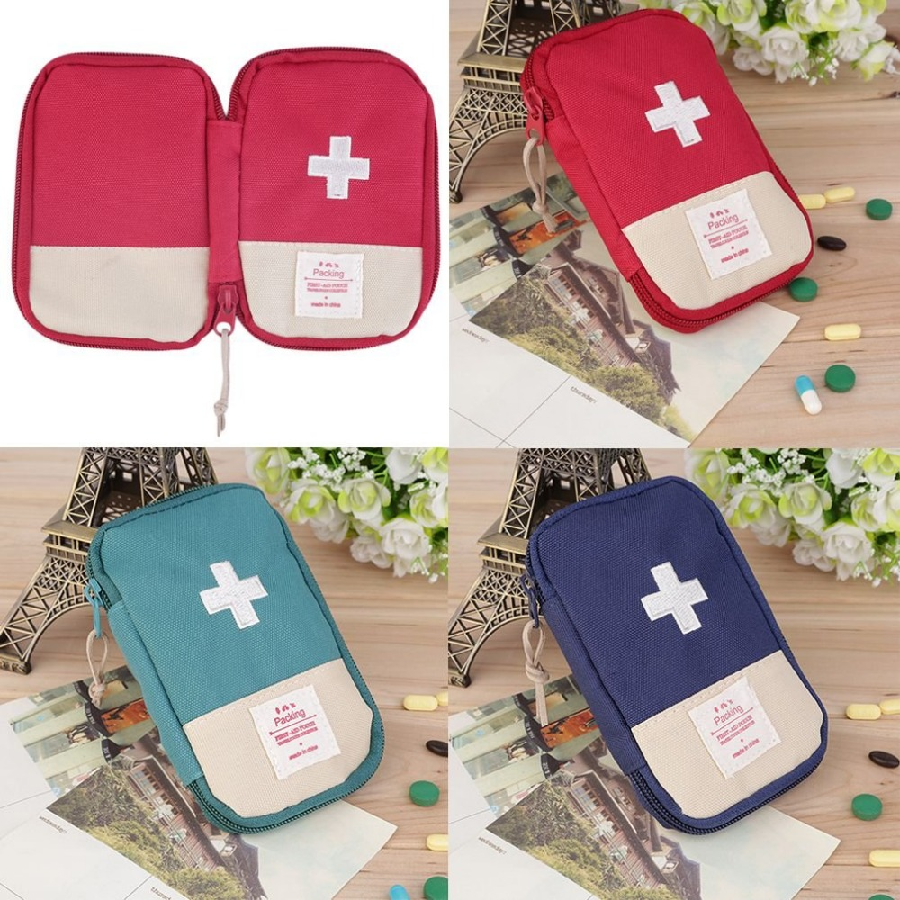 Outdoor Camping First Aid Kit Bag Portable Emergency Bag Rescue Case Striking Cross Symbol For Hiking/Travel Safety