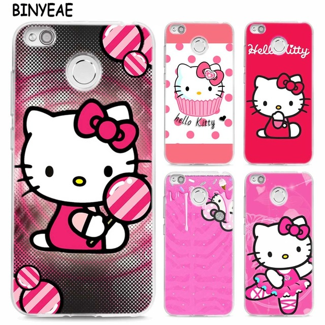 pretty nice fff19 ce101 US $2.2 30% OFF|BINYEAE Pink Hello kitty cat TPU Transparent Soft Case  Cover for Xiaomi Mi Redmi Note A1 4X 5 5A 4 4A 3 Plus Pro -in Fitted Cases  from ...