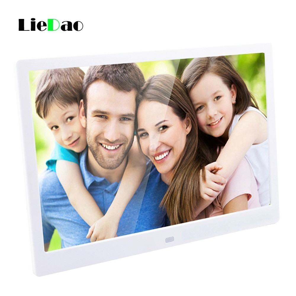 LieDao 15 Inch Digital Photo Frame LED Backlight HD 1280*800 Electronic Album Full Function Photo Music Video Good Gift 10 inch tft screen led backlight hd digital photo frame electronic album full function photo music video good gift