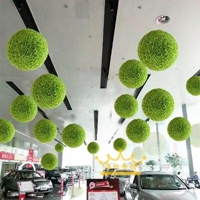 50 cm Dia vert mariage embrasser balle plafond suspendus artificielle soie fleur embrasser boules pour décoration de mariage 10 pcs/lot