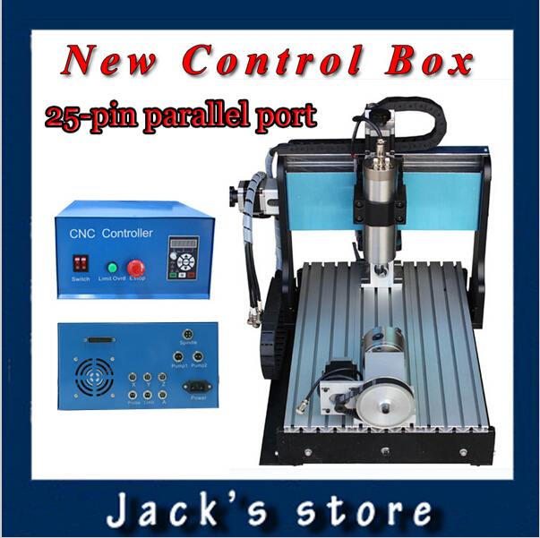 25-pin parallel port! 3040Z-SS++ (4-axis),CNC 30401500W Spindle+2.2kw VFD CNC Router water-cooling+4axis Metal engraving machine usb port 3020z s cnc3020 800w spindle 1 5kw vfd cnc router water cooling metal engraving machiney cnc machine cnc 3020