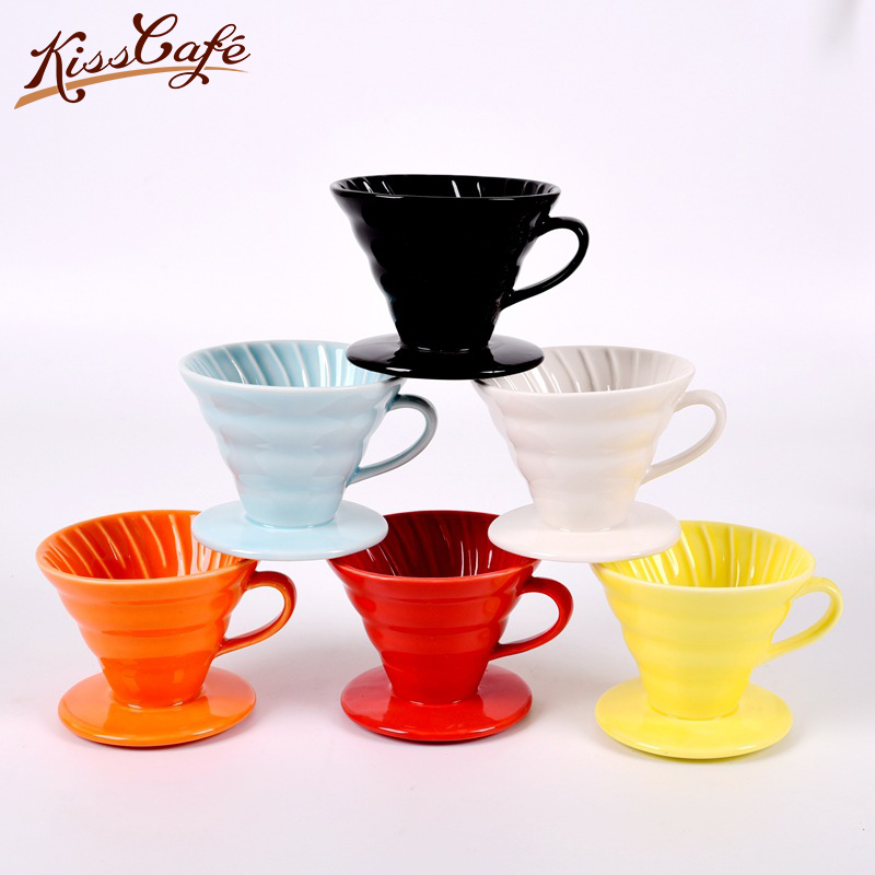2-4 Ceramic Coffee Cup Espresso Coffee Cup Filter Cups V60 Funnel Drip Hand Cup Filters Coffee Accessories For Competition