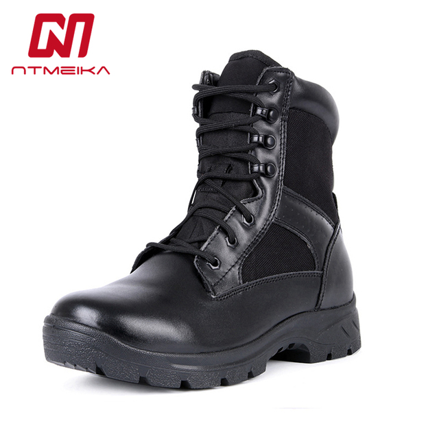 54f87e54a09 US $31.85 35% OFF|Plus Size 38 45 Genuine Leather Mens Boots Breathable  Army Delta Military Tactical Desert Boots Winter Outdoor Combat Boots Men  on ...