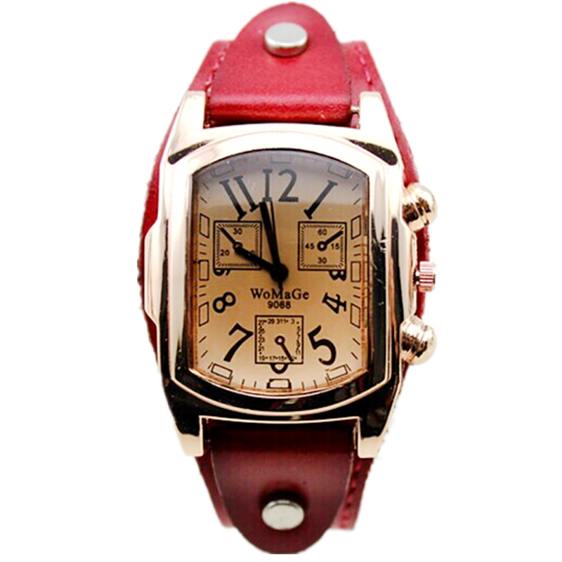 61dfb96f3d3 Vestido Da Senhora relógios de Luxo da marca Womage Moda Ouro Rosa Cabeça  Quadrada Mulheres Pulseira