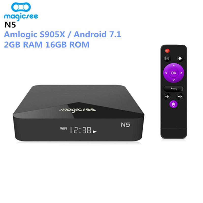 Billige Kaufen MAGICSEE N5 Android TV Box OS Amlogic S905X