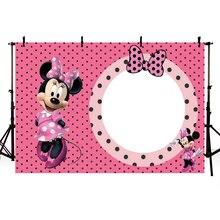 MEHOFOTO  Pink Bow Minnie Newborn Children Birthday Girls Baby Shower Custom Photo Studio Backdrop Background Vinyl