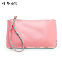 HS RHYME 2017 Autumn Winter Fashion Printing Small Handbag Multifunction Womens Leather Clutch Bag Apple Phone