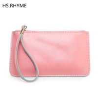 HS RHYME 2017 Autumn Winter Fashion Printing Small Handbag Multifunction Womens Leather Clutch Bag Apple Phone