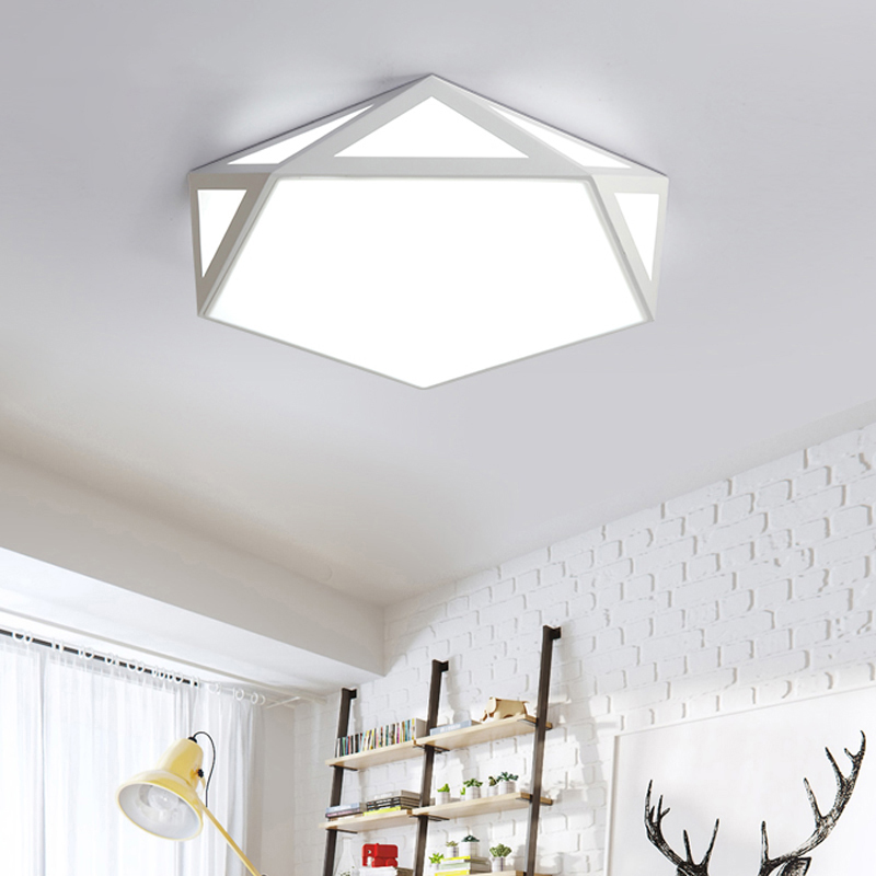 Led Ceiling Lights Ideas: Geometry Creative LED Ceiling Lamp Surface Mounted Modern