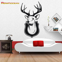 New 2017 Modern Home Decor Christmas Stickers Decorations Animal Deer Wall Sticker Removable Kids Waterproof PVC