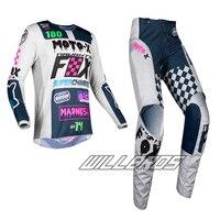 2019 MX 180 Czar Light Grey Gear Jersey Pants Mens Combo Dirt Bike Off Road Riding Motocross Protective Pad