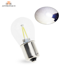AOTOMONARCH 1pc 1156 LED BA15S P21W Filament Chip Car Lights Bulb Auto Vehicle Reverse Turning Signal Lamp DRL 12V BJ