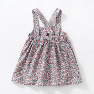 Image 2 - Robes larges en velours côtelé, extensibles, à bretelles aux épaules, robe gilet mignon, automne, pour enfants de 2 à 7 ans, nouvelle collection