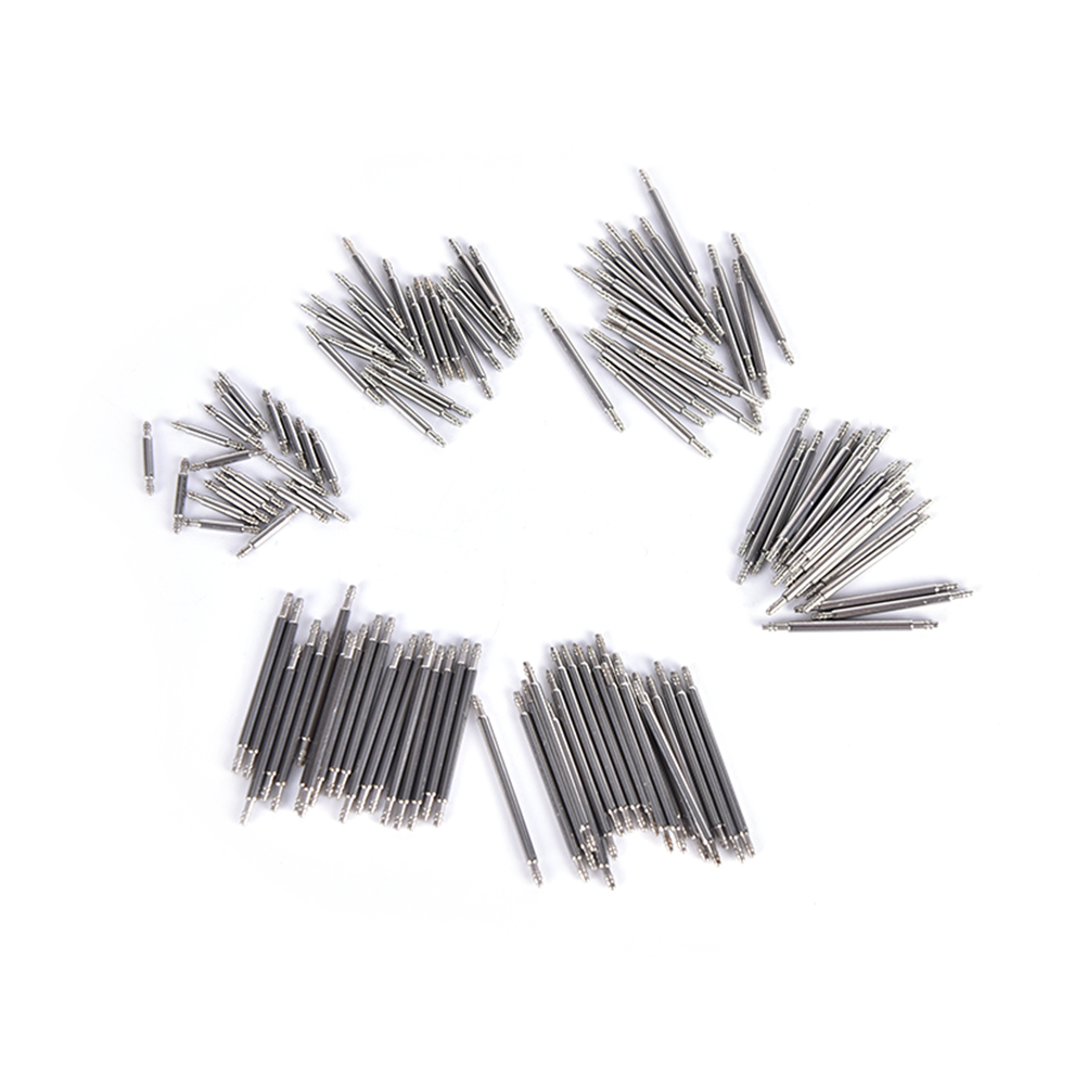 20pcs 8mm 12mm 16mm 18mm 20mm 22mm Stainless Steel Watch Band Spring Bars Strap Link Pins Repair Watchmaker Tools