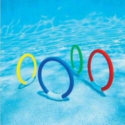 1 pièces Sports nautiques drôles enfants plongée sous-marine anneaux piscine jouets enfants jouer jeux jouets enfants plongée anneau piscine jouet amusant
