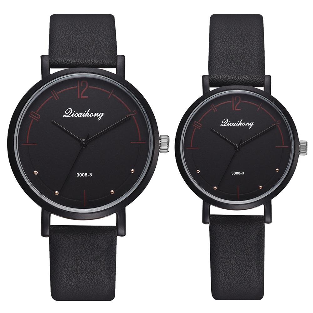 Couple Watches Set Women Man Leather Quartz Clock Retro Belt Ladies Sports Wrist Watch Drop Shipping Relogio Masculino