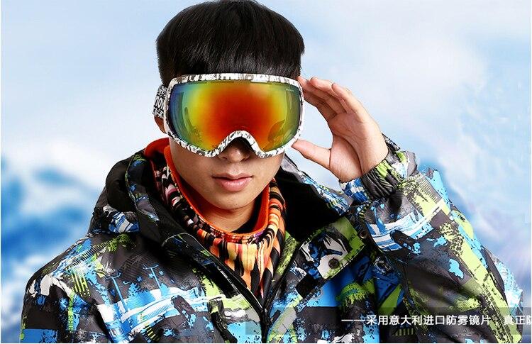 2018 Marke Ski Brille Doppel Linse Anti Fog Big Sphärische Professionelle Ski Brille Unisex Mehrfarben-schneebrille Eine GroßE Auswahl An Modellen