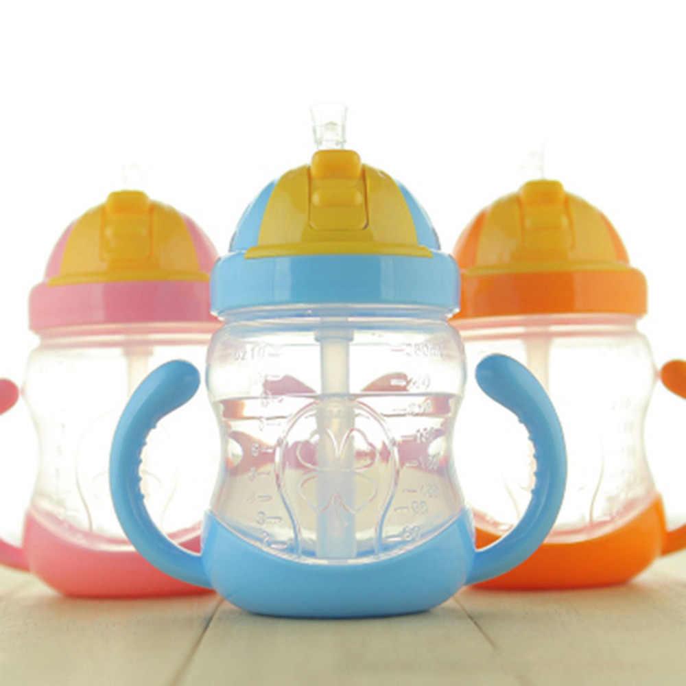 PREUP 280 мл милая детская бутылка для воды соломенная детская обучающая силиконовая приспособление с сеточкой для кормления детей безопасная ручка для бутылочки Сиппи