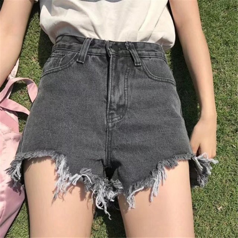 Hot Sale 2019 New Harajuku Women 39 s Jeans Summer High Waist Denim Shorts Casual Women Jeans Shorts Burr Shorts Plus Size YH109 in Shorts from Women 39 s Clothing
