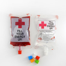 Halloween Drink Container Blood Pouch Zombie Drinks Beverage Bags